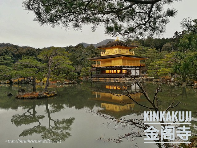 There are two temples - Ginkaku-ji and Kinkakuji. The more magnificent of the two has to be Kinkakuji with the golden glow during sunset.