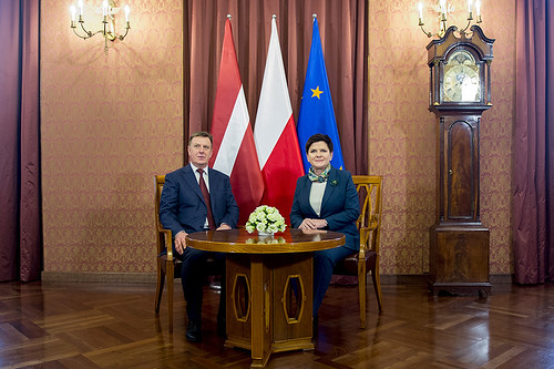 Spotkanie premier Beaty Szydło z premierem Łotwy