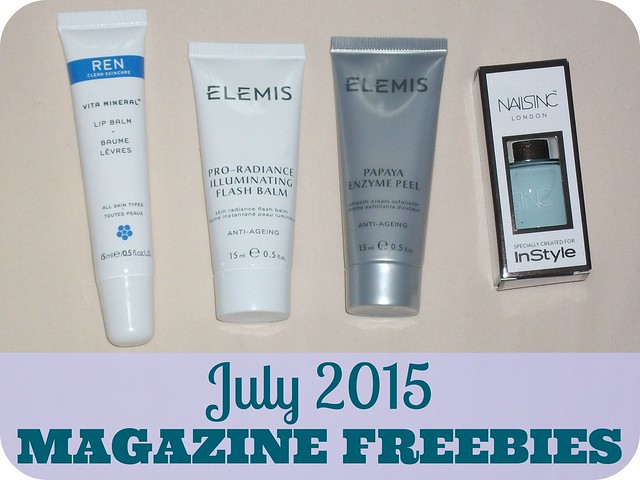 July 2015 Magazine Beauty Freebies