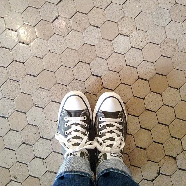 More hexagons in the wild. #EllisIsland #latergram