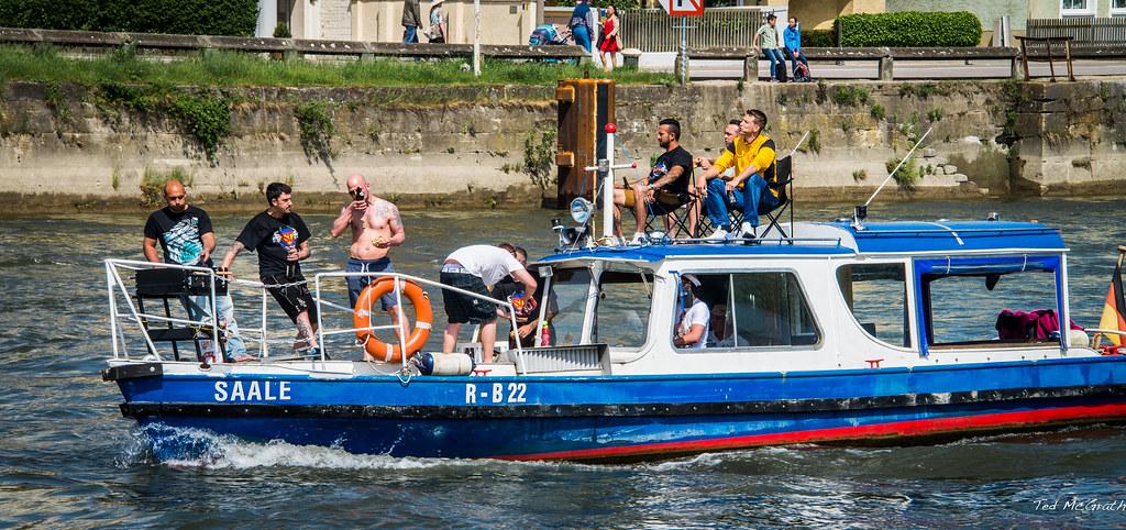 Males in boat