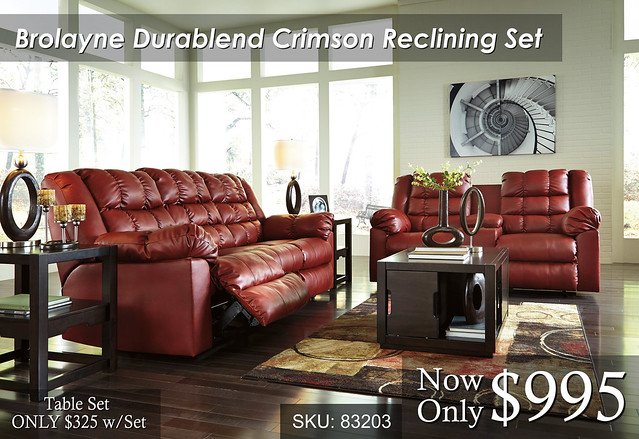 Brolayne Crimsonl Reclining Set
