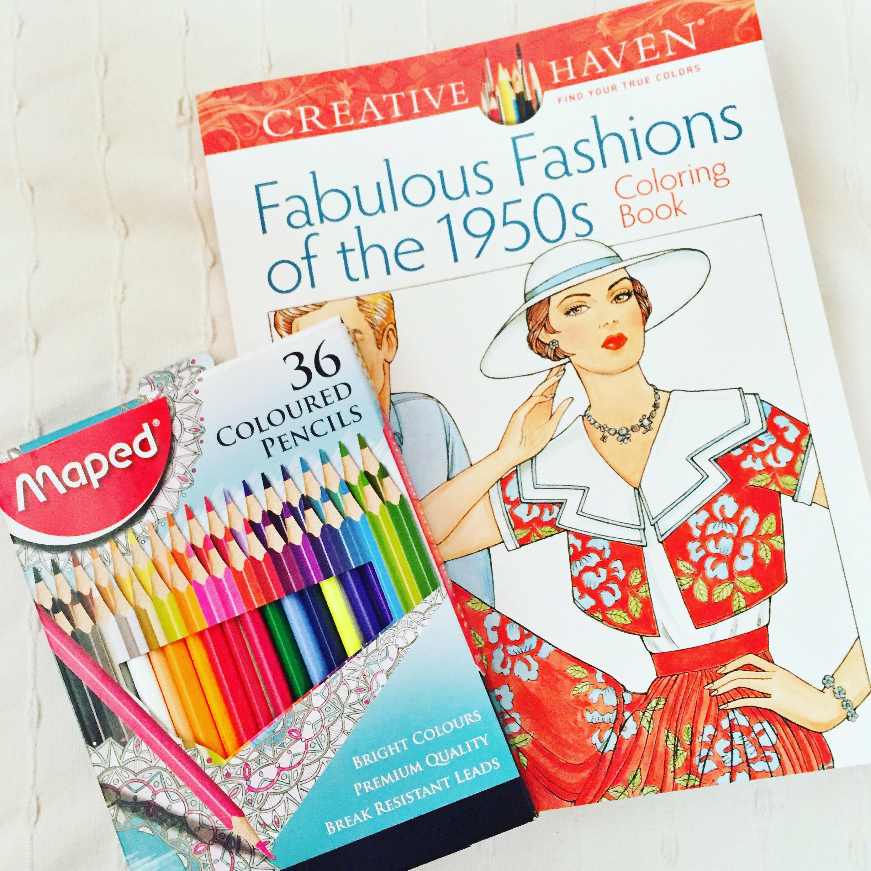 libro colorear vestidos de los 50