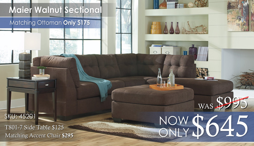 Maier Walnut Sectional 45201