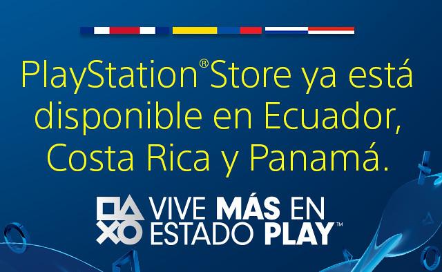 PlayStation Store en Ecuador, Costa Rica y Panamá