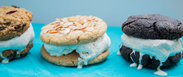 Chai Ice Cream on Cookie Chick Cookies
