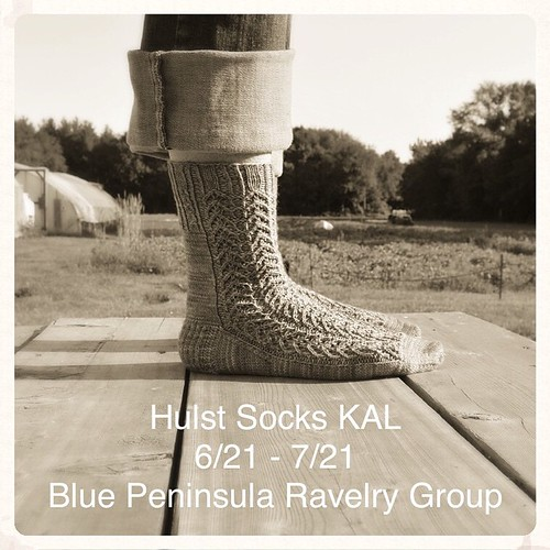 On your mark! The Hulst Socks KAL starts a week from today. We have great prizes - yarn from Periwinkle Sheep, buttons from Katrinkles, and a project/tote bag made by @missouritrouble. Hope to see you! @katrinkles_knitting_jewelry @periwinklesheep #bluepe