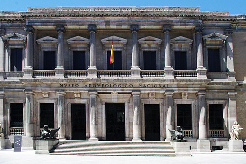 Madrid: 3. Front facade of the National Archeological Museum.