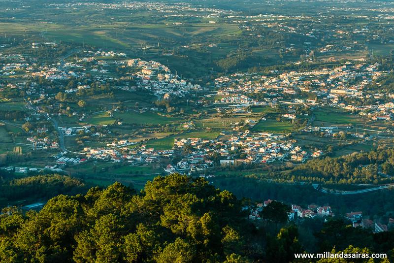 Vista general de Sintra desde el Palacio da Pena