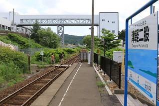津軽二股駅と津軽今別駅