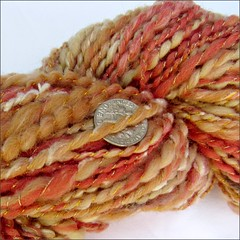 Sunrise handspun, close up