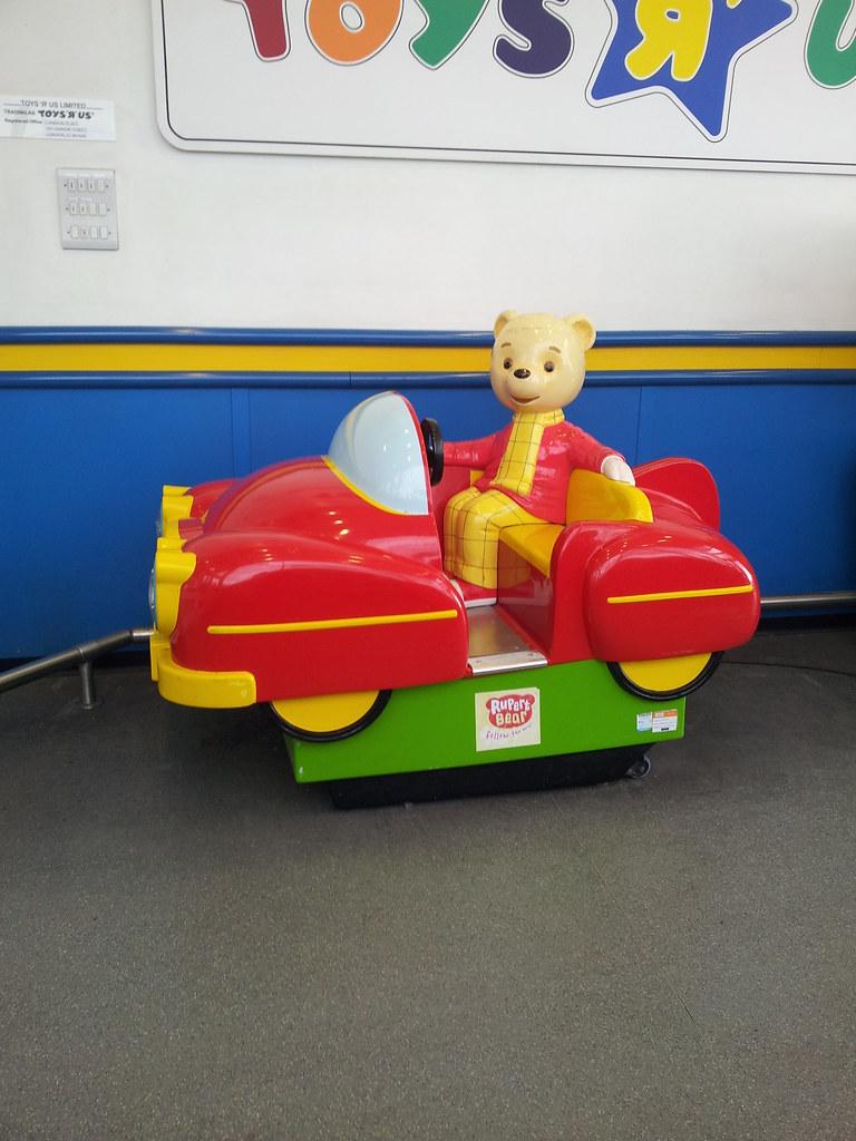 Toys R Us Ride : Rupert bear standard ride at stockport peel centre toys r