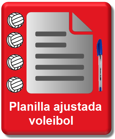 icono planilla ajustada voleibol