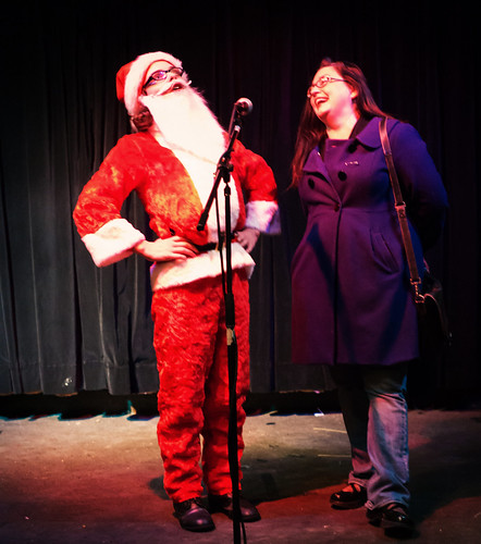 Santa and Kelley sing Jingle Bells at DL Minneapolis | by s-j-t