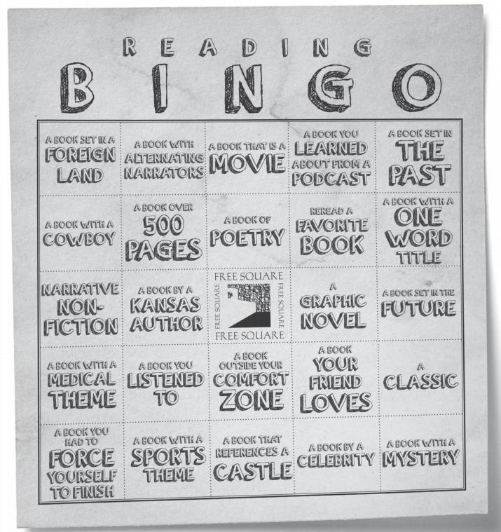TSCPL Reading Bingo