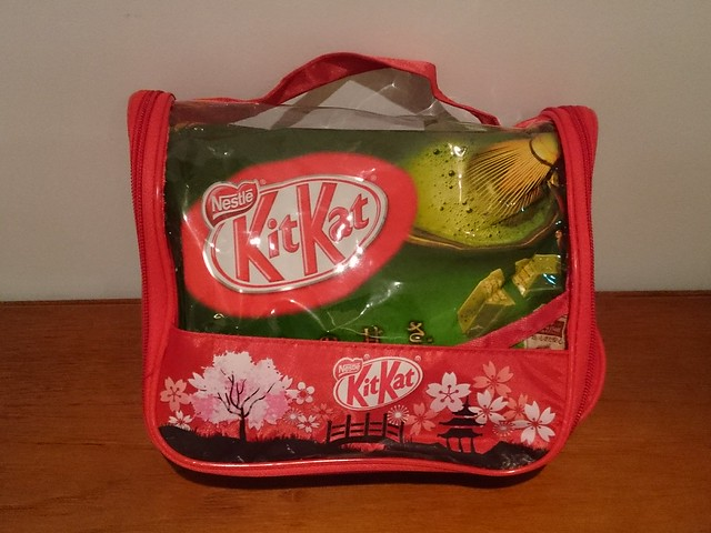 Green Tea Kit Kats in a wash bag from Tan Son Nhat International Airport, Vietnam