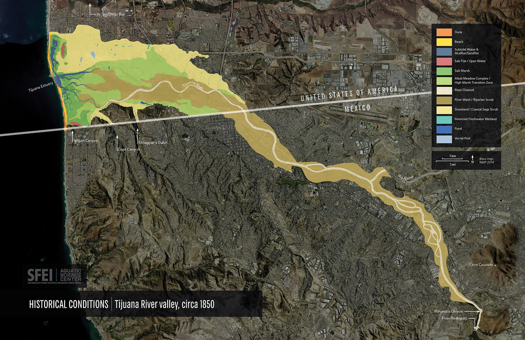 Tijuana River Valley- Historical Habitat Types | This map ...