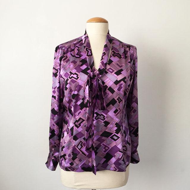 silk bow blouse 1