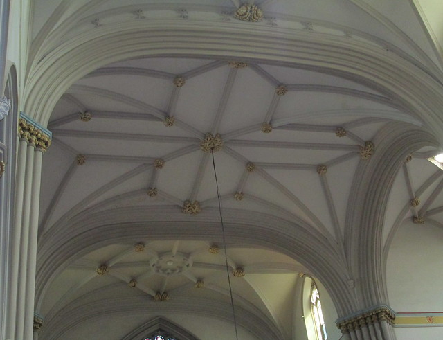 Dunfermline Abbey Church, Part-vaulted Ceiling under Square Tower