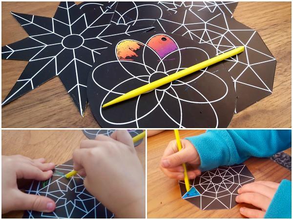 Scratch Art Collage, Baker Ross summer crafts