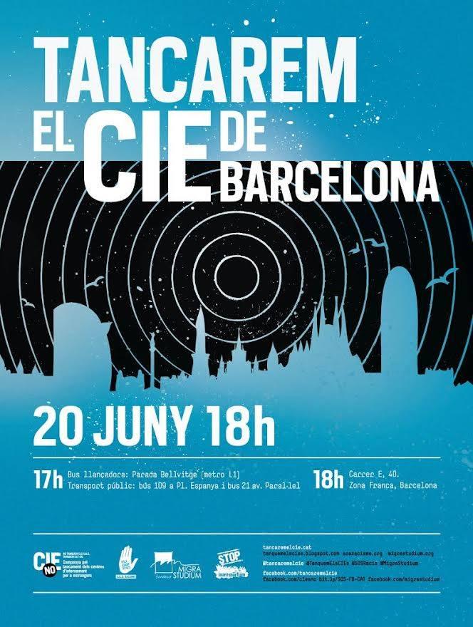 Tancament del CIE de Barcelona 20 de juny