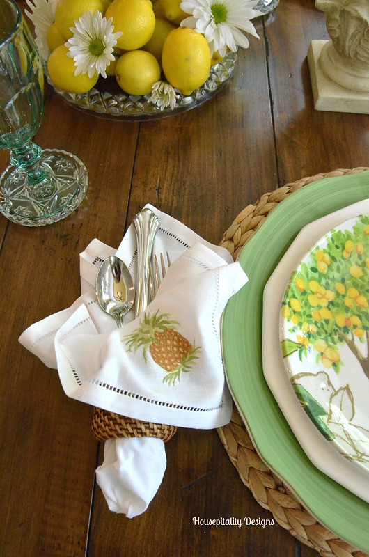 A Summer Tablescape Of Lemons And Daisies