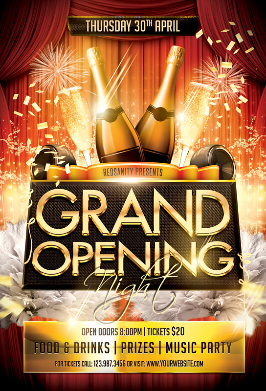 Grand Opening Flyer Grand Opening Invitation Card Grand Opening