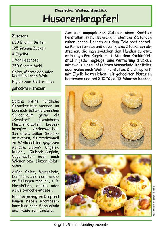 Weihnachtsbäckerei ... Weihnachtsplätzchen backen ... Husarenkrapferl, Linzer Kolatschen, Engelsaugen ... Rezept ... Fotos und Collagen: Brigitte Stolle, Mannheim