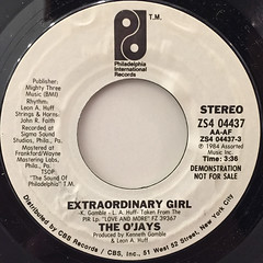 THE O'JAYS:EXTRAORDINARY GIRL(LABEL SIDE-A)