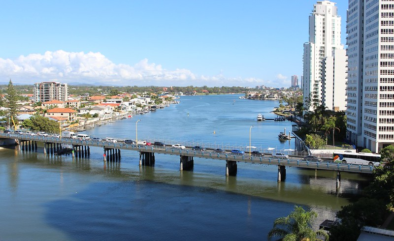 Thomas Drive bridge, Surfers Paradise, morning peak hour