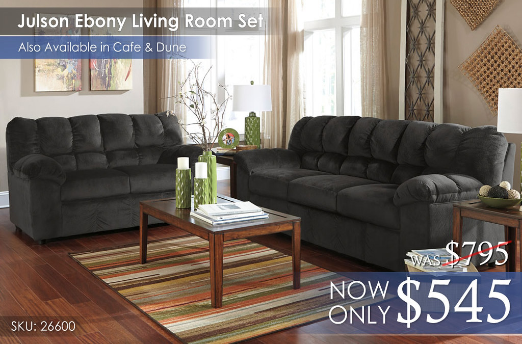 Julson Ebony Living Room Set 26600