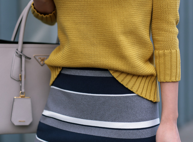 mustard navy business professional work outfit
