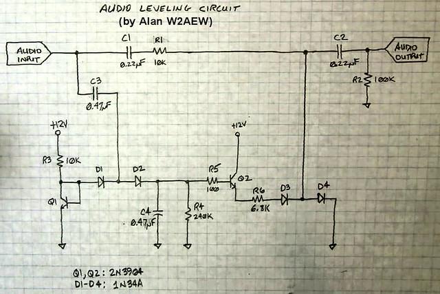 Simple, discrete, audio compressor circuit needed for ...