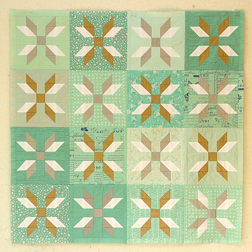 a Snowflake quilt top