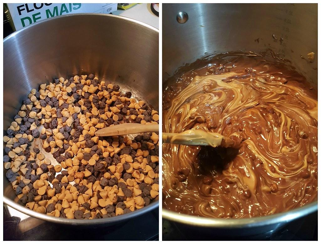 peanut butter chocolate cereal treats