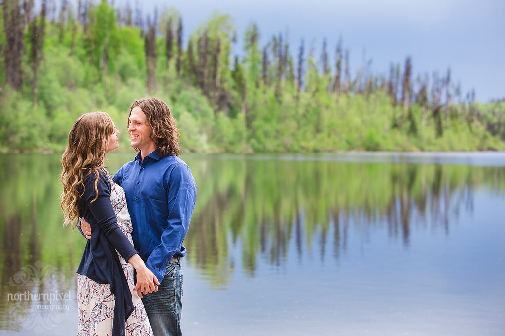 Lakeside Engagement Session - Prince George British Columbia