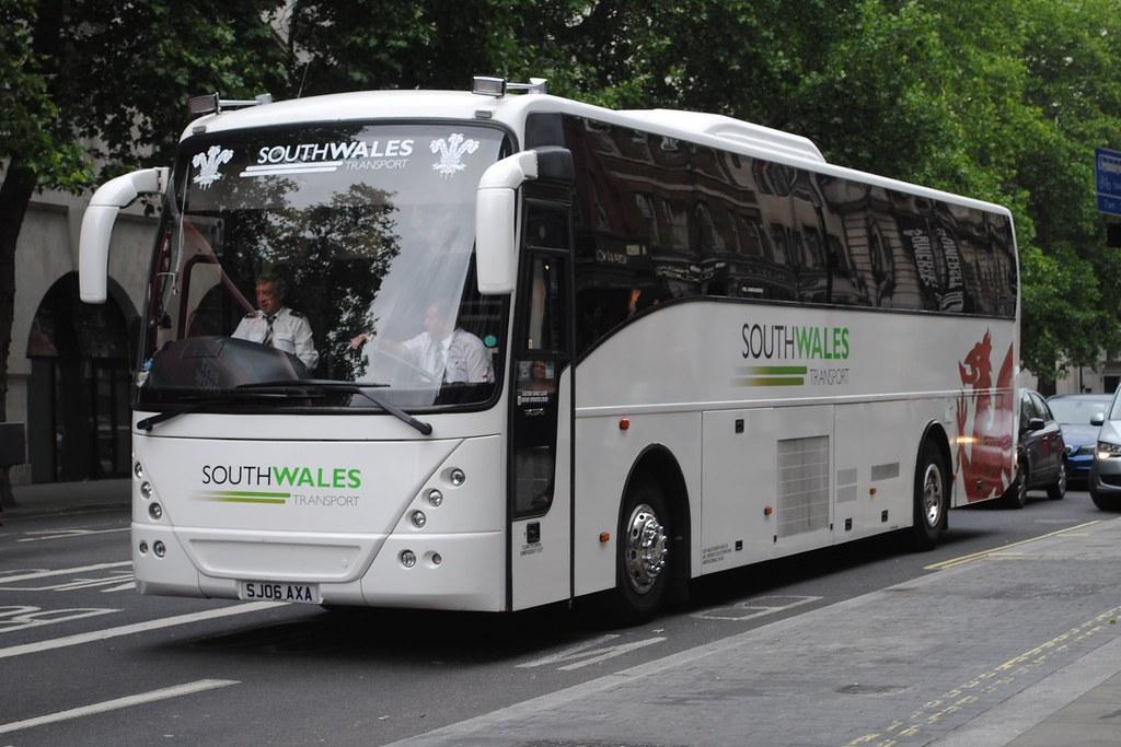 South Wales Transport Sj06 Axa Volvo B12m Jonckheere