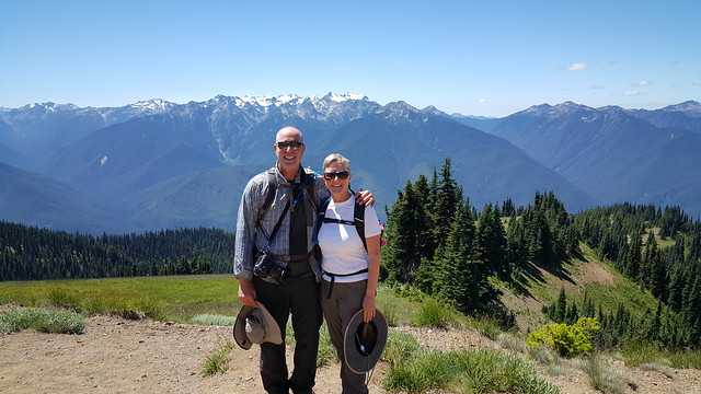Fred & Laura at Olympic NP - Mt. Olympus in the background