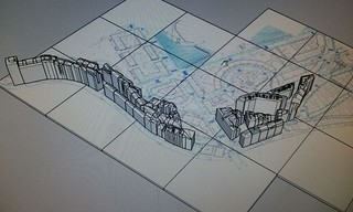 Bilbao la Vieja, preparada para su impresión en 3D, a partir de una cartografía del Ayuntamiento de Bilbao.