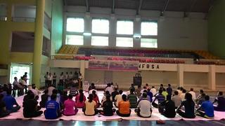 Inauguration of Yoga satra at NF Railway Indoor Stadium at Guwahati