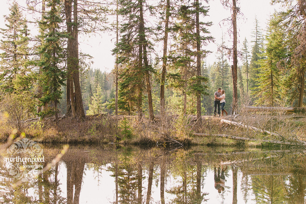 Lakeside Engagement Session - Prince George BC Wedding