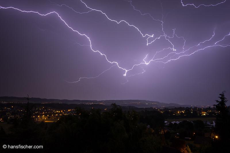Blitze im Aargau am 7.Juni 2015