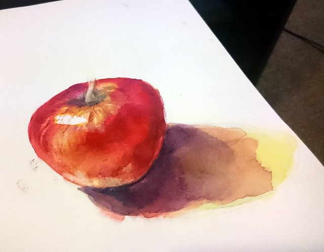 """Apple"" Watercolour painting by Elaine Chen"