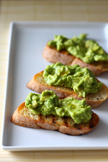Smashed Avocado Tartines with Chile-Garlic Oil