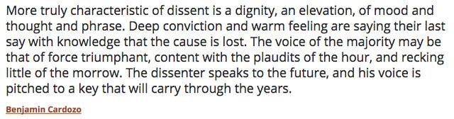 Cardozo Quote - Dissent