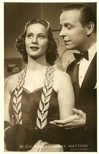 Alida Valli and Andrea Mattoni