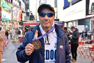 Noicattaro. Francesco Riglietti alla Maratona di New York front