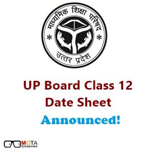 UP Board Class 12 Date Sheet