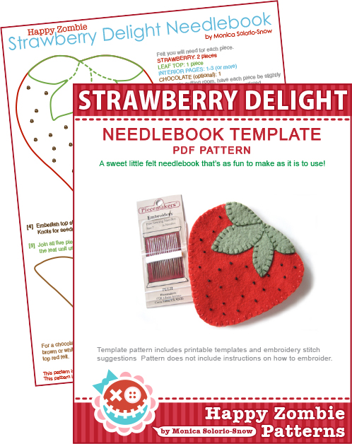 Strawberry Delight - needlebook tempalte PDF