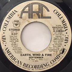 EARTH,WIND & FIRE:SEPTEMBER(LABEL SIDE-B)